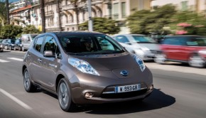 Leise und emissionsfrei - der Nissan Leaf Foto: Nissan